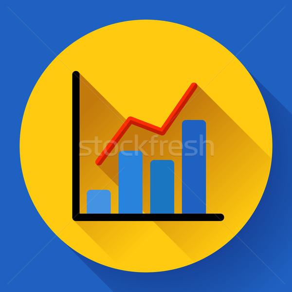 Business diagram chart vector icon Modern flat 2.0 style Stock photo © MarySan