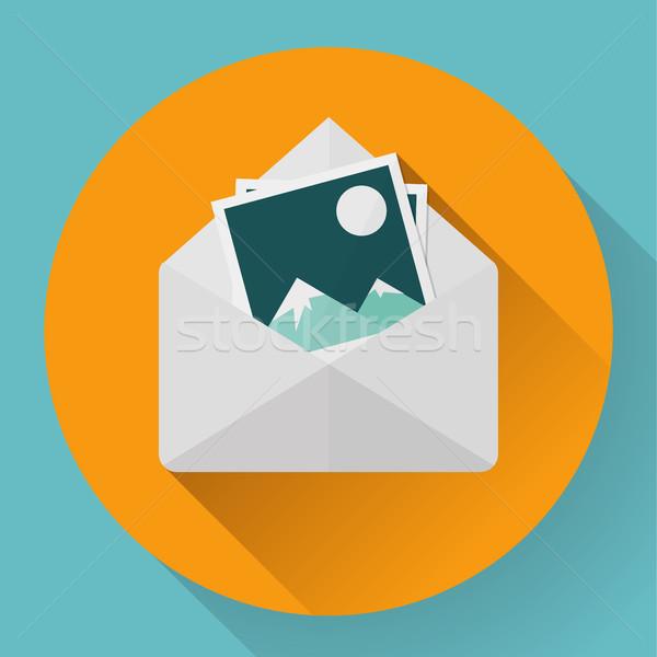 Boríték fotók stílus új email üzlet Stock fotó © MarySan