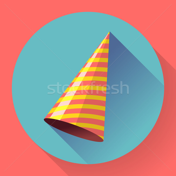 Vector icon of Party hat. Flat designed style. Stock photo © MarySan
