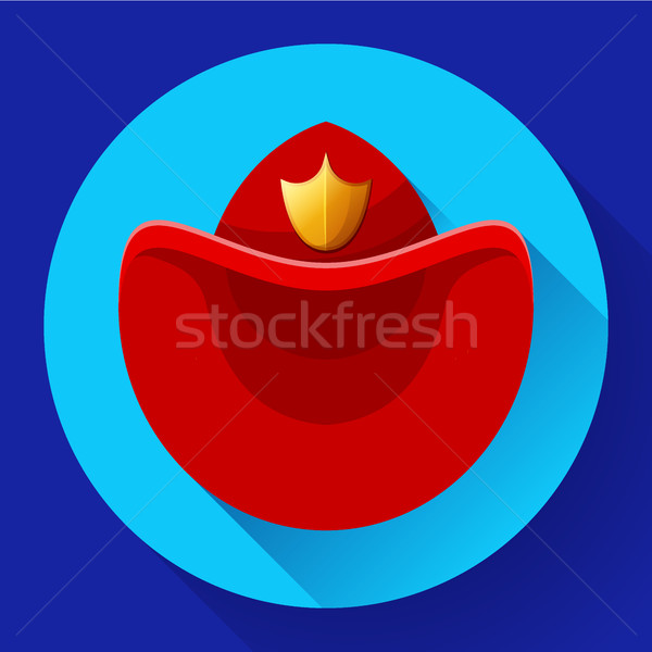 Firefighters hat symbol icon Vector for video, mobile apps. Stock photo © MarySan