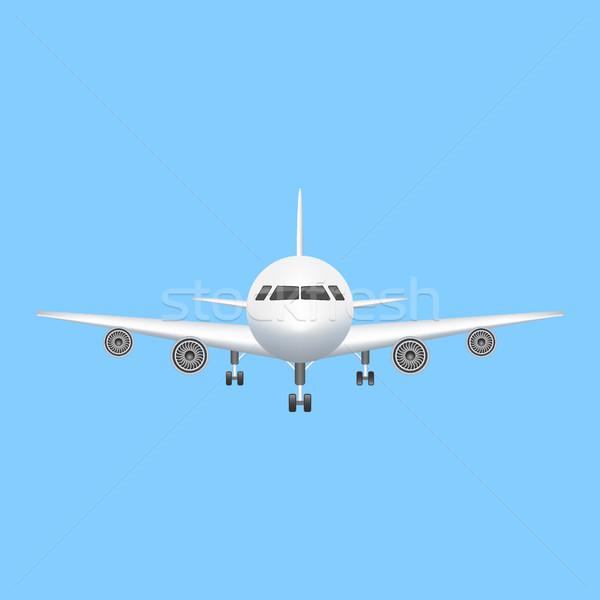 Airplane icon vector aviation illustration Stock photo © MarySan