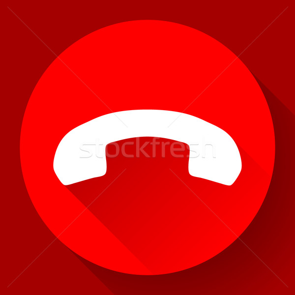 Red Phone Call end vector Icon Stock photo © MarySan