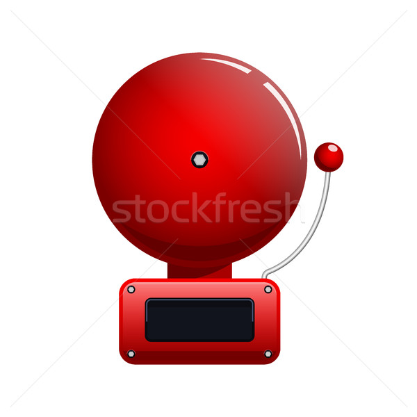 Vector illustration of red fire alarm bell Stock photo © MarySan