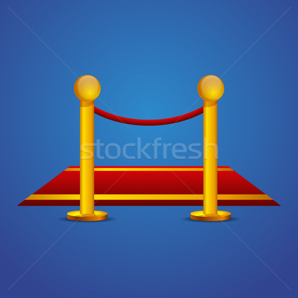 Red carpet and barrier rope Stock photo © MarySan