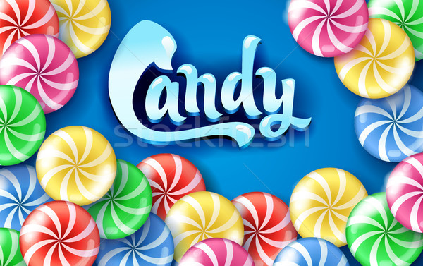 Sweet lollipop candy colorful background. Stock photo © MarySan