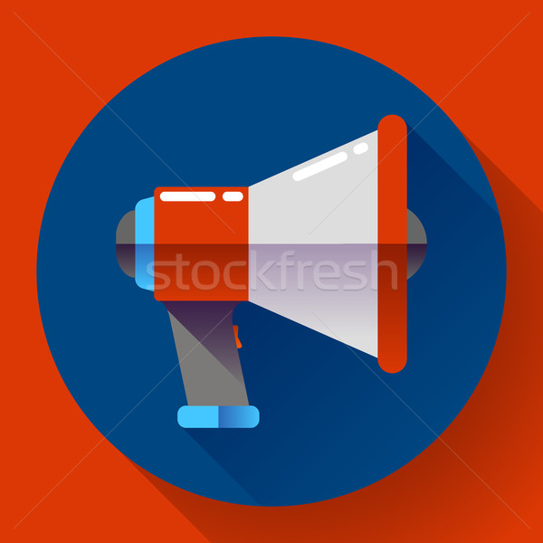 Megafon ikon vektör viral pazarlama dizayn Stok fotoğraf © MarySan