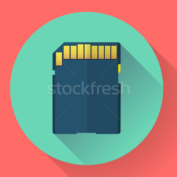 Emlék kártya ikon stílus digitális vektor Stock fotó © MarySan