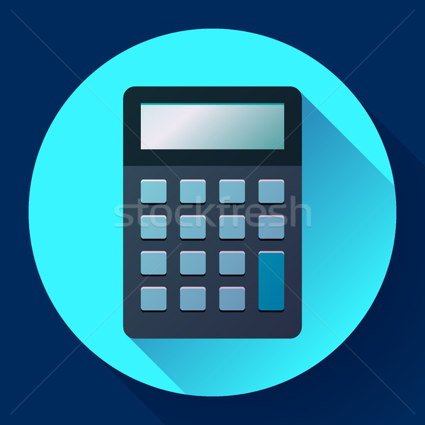 Calculator icon flat style isolated  vector electronic calculation