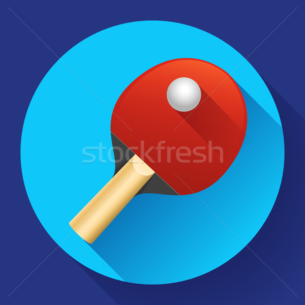 Table tennis racket with ball vector illustration Stock photo © MarySan