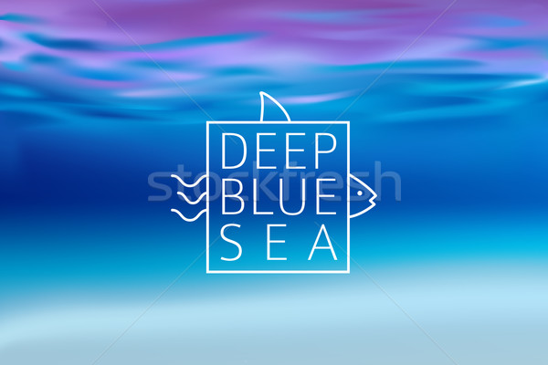 Water blurred background with line sign deep blue sea Stock photo © MarySan