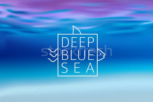 água turva linha assinar profundo azul Foto stock © MarySan