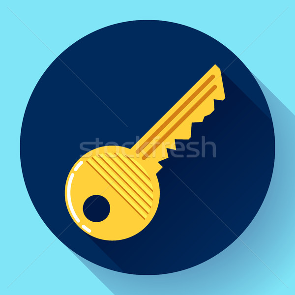 Site profile, House or car kay - entrance symbol, password icon, and security Stock photo © MarySan