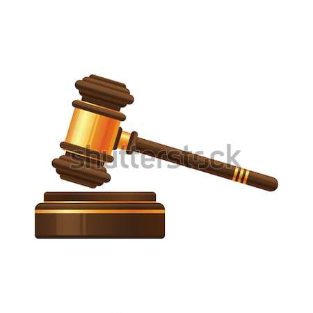 Judge gavel or auction hammer icon Stock photo © MarySan