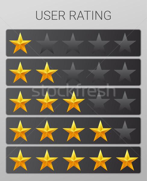 Rating stars set. Web or mobile User feedback concept. Stock photo © MarySan