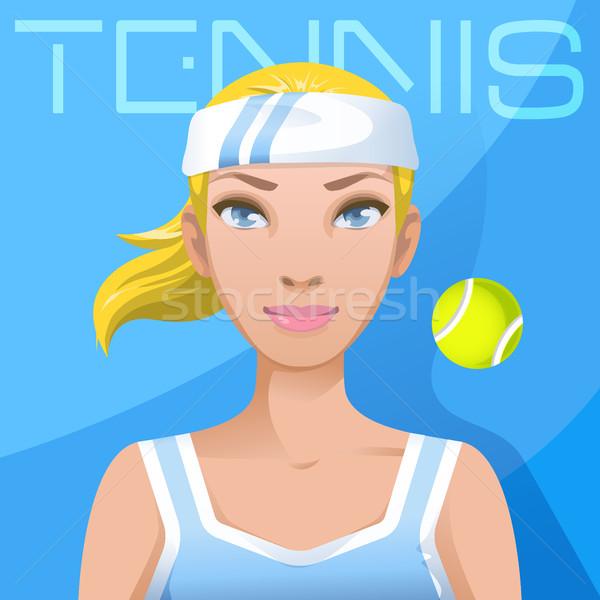Fiatal nő teniszező avatar sport aktív életstílus Stock fotó © MarySan