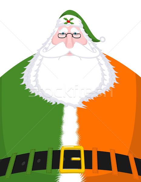 Noel baba İrlanda İrlandalı dil Noel yaşlı adam Stok fotoğraf © MaryValery