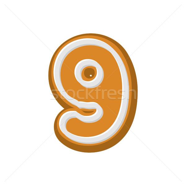 Numer piernik chrzcielnica miętowy miodu ciasto Zdjęcia stock © MaryValery
