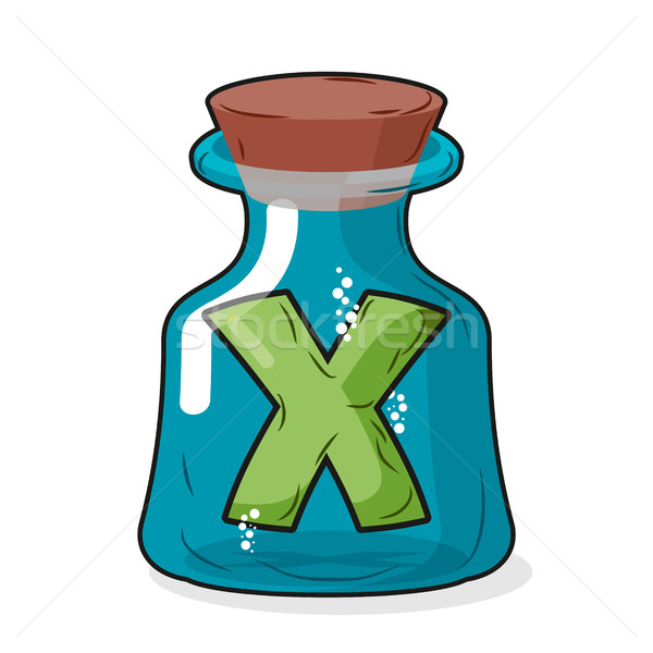 letter X in  bottle for experiments. Letter in vessel. Laborato Stock photo © MaryValery