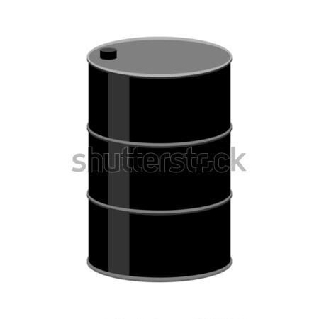 Vat olie geïsoleerd zwarte brandstof container Stockfoto © MaryValery