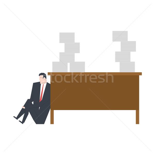 Trabajo gerente llorando mesa grande Foto stock © MaryValery