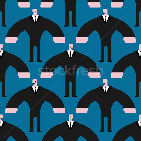 Bodyguard pattern. Security guard in suit ornament. Strong Defen Stock photo © MaryValery