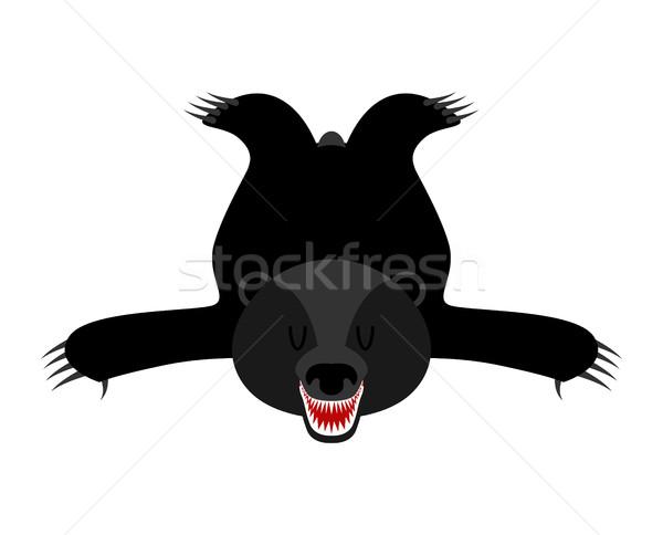 皮膚 アメリカン 黒 クマ ハンター トロフィー ストックフォト © MaryValery
