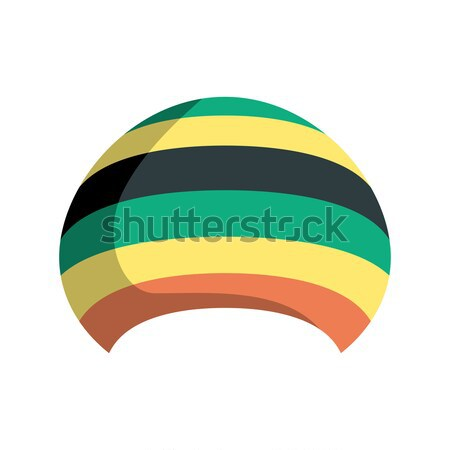 Rastafarian hat isolated. Jamaica cap on white background Stock photo © MaryValery