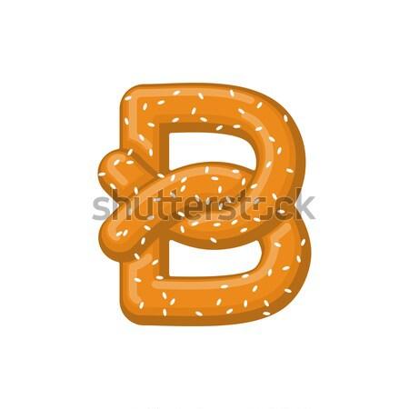 Szám perec falatozó betűtípus négy szimbólum Stock fotó © MaryValery