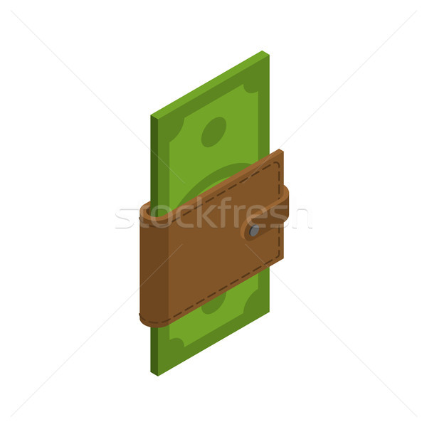 Para cüzdan nakit çanta dolar finansal Stok fotoğraf © MaryValery