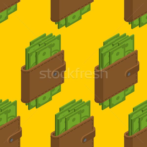 Pénz pénztárca végtelen minta pénz pénztárca baba Stock fotó © MaryValery