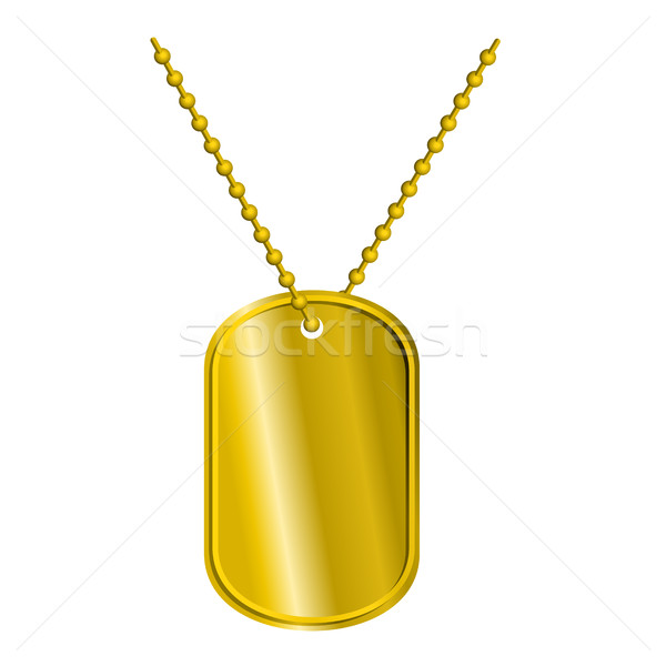 Golden Badge soldier. Army Medallion for rich of precious metal. Stock photo © MaryValery