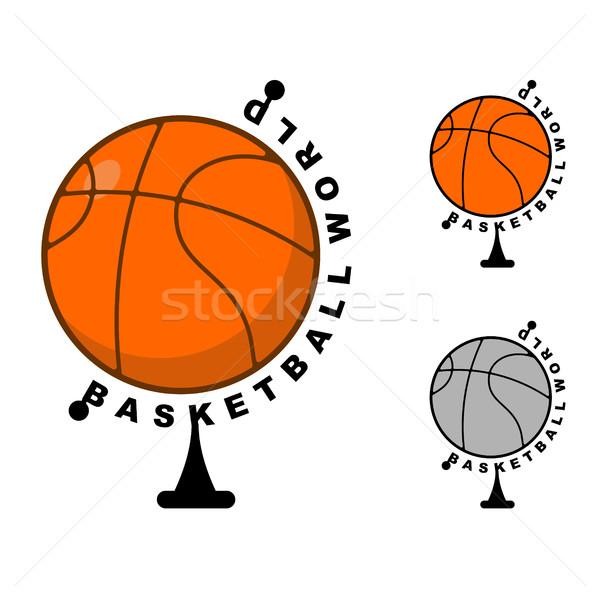 Stock fotó: Világ · kosárlabda · földgömb · labda · játék · sportok