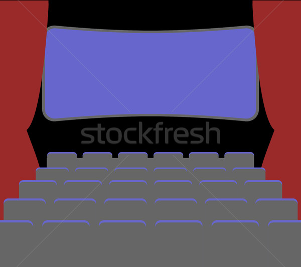 cinema Facilities and chairs. movie house. picture palace. pictu Stock photo © MaryValery