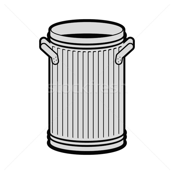 Trash can open isolated. Wheelie bin on white background. Dumpst Stock photo © MaryValery