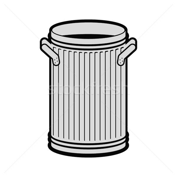 Сток-фото: мусорное · ведро · открытых · изолированный · белый