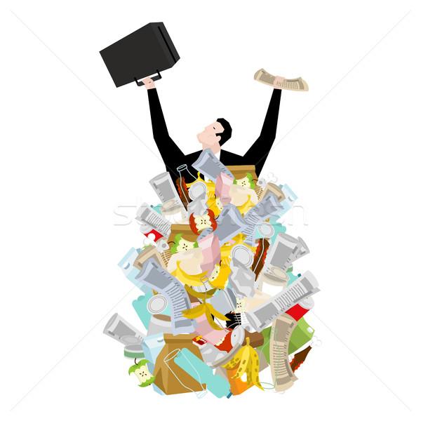 üzletember szemét halom főnök köteg hulladék Stock fotó © MaryValery