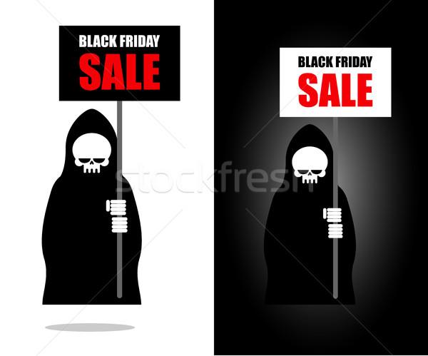 Halál szalag black friday vásár szörnyű lap Stock fotó © MaryValery
