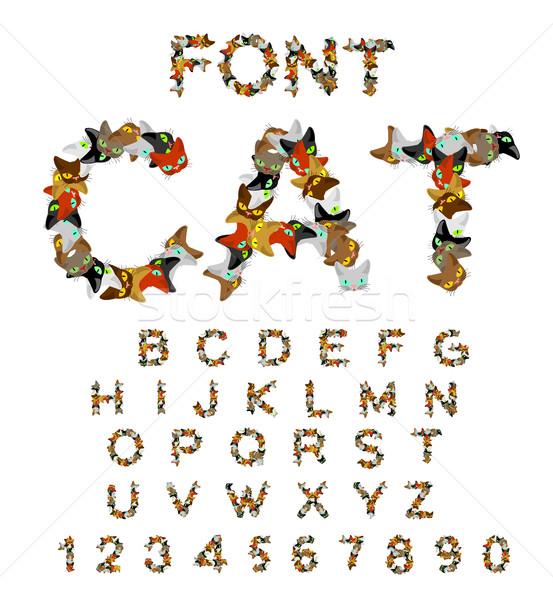 猫 フォント 文字 猫 ペット アルファベット ストックフォト © MaryValery