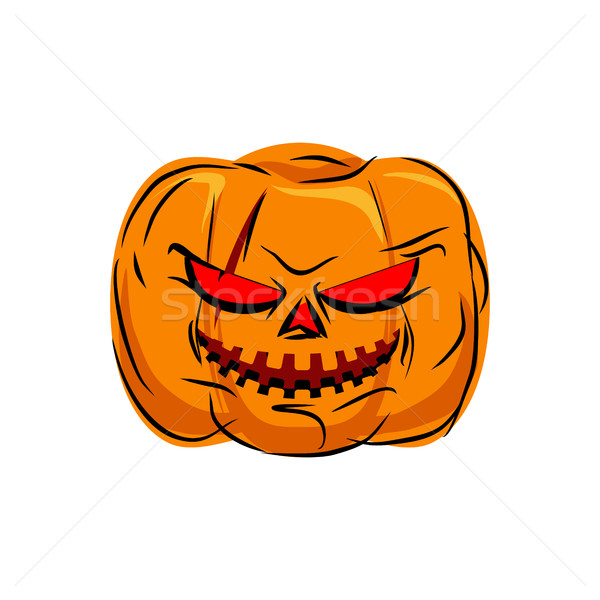 Scary pumpkin for Halloween. Vegetables for terrible holiday Stock photo © MaryValery