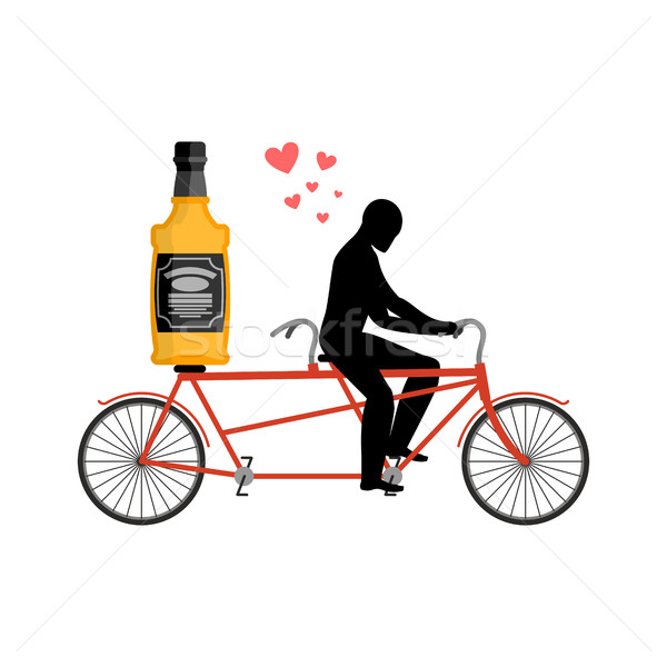 Beber alcohol botella whisky moto Foto stock © MaryValery