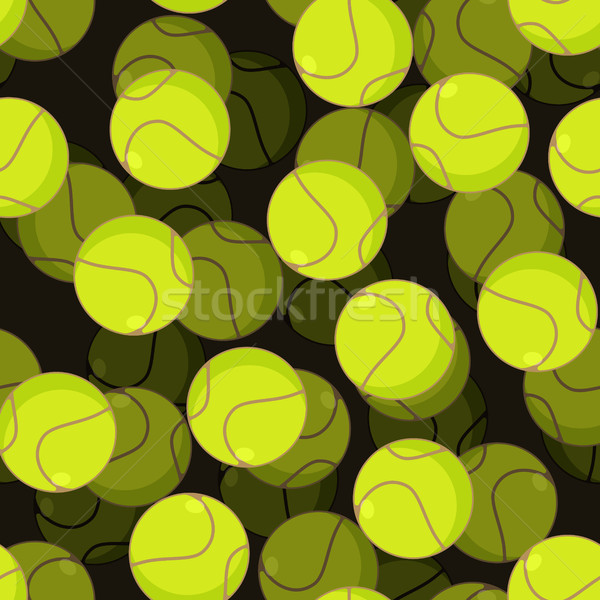 Tennisbal 3D sport ornament tennis Stockfoto © MaryValery