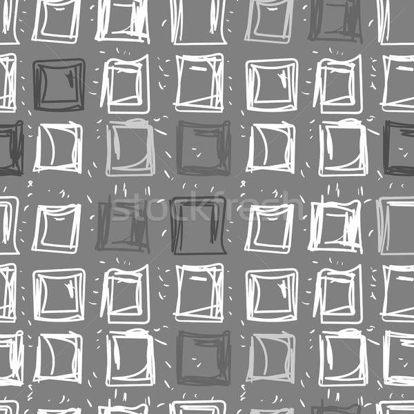 Stock photo: Abstract background of squares. Rectangular seamless pattern in