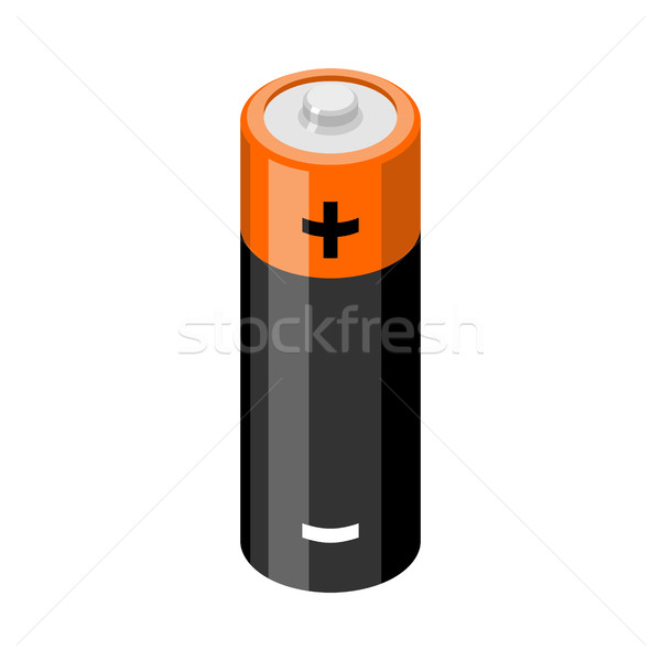 Battery isolated. accumulator on white background. Power supply Stock photo © MaryValery
