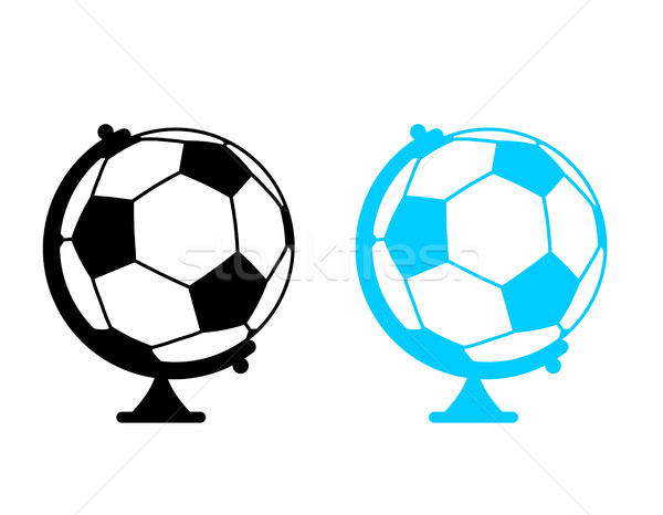 football ball Globe. World game. Sports accessory as earth spher Stock photo © MaryValery