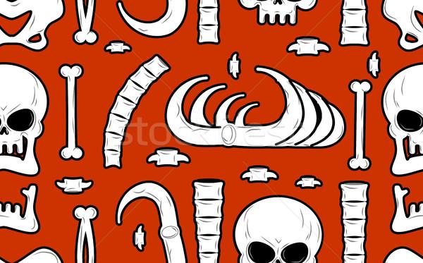 Iskelet kemikleri kafatası süs anatomi Stok fotoğraf © MaryValery