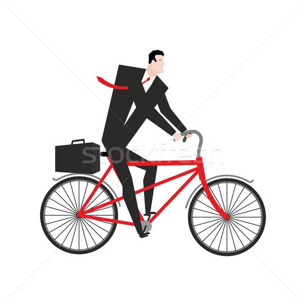 Biznesmen rowerowe szef rower działalności ilustracja Zdjęcia stock © MaryValery