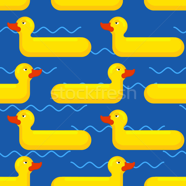 Inflatable duck Seamless pattern. toy for swimming background Stock photo © MaryValery