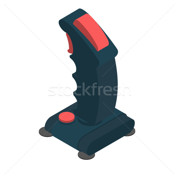 Stock foto: Retro · Joystick · isoliert · alten · Gamepad · Rad