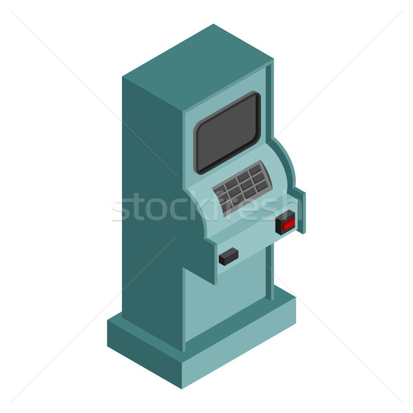 ATM Isometry isolated. cash machine Financial apparatus for issu Stock photo © MaryValery