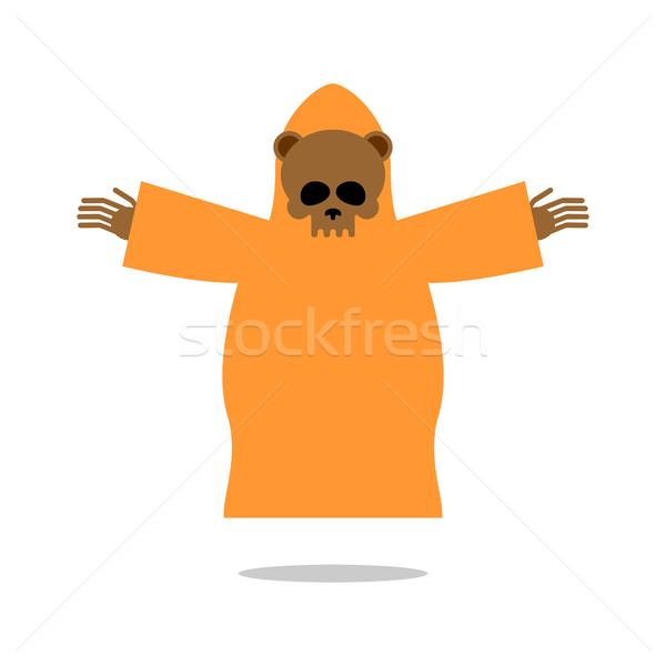 Death bear in yellow clothes reaches out his hands for hug. Skel Stock photo © MaryValery